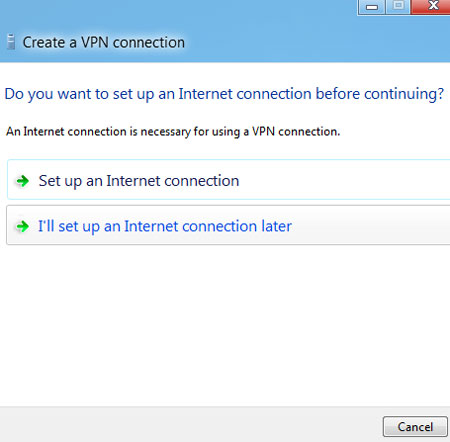 how to set up VPN in Windows 8